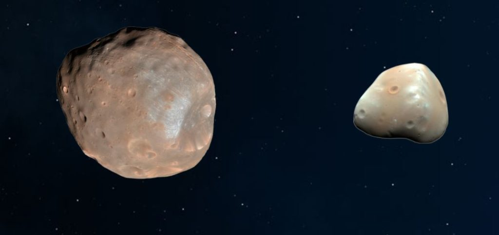 Mars Moons Phobos and Deimos